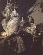 Aelst, Willem van Still Life of Dead Birds and Hunting Weapons (mk14) oil